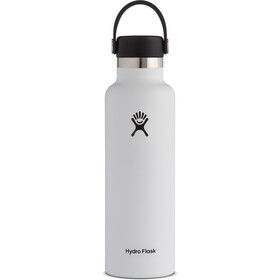 Hydro Flask Standard Mouth Drinkfles met standaard Flex Cap 621ml, white